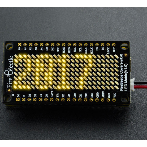 FireBeetle 24×8 LED Matrix - Yellow [DFR0487]