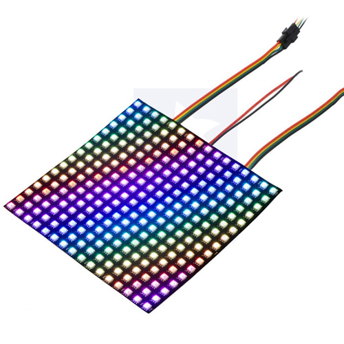 Addressable RGB 8x8-LED Flexible Panel, 5V, 10mm Grid (APA102C)