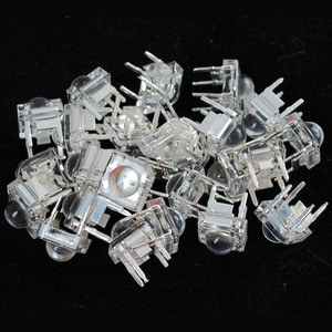 Clear 'Piranha' Super-flux RGB (tri-color) LED (25 pack) - Common Anode [ada-315]