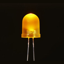 10파이 확산형 LED (노랑) Diffused Yellow 10mm LED (25 pack) [ada-3260]