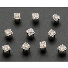 Diffused 'Piranha' Super-flux RGB (tri-color) LED (10 pack) [ada-1451]